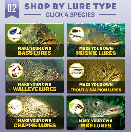 AMERICA'S LARGEST SELECTION OF LURE BUILDING SUPPLIES!